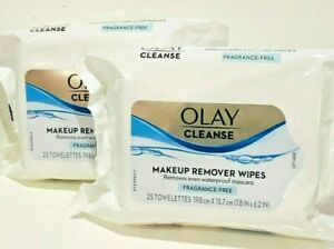 OLAY CLEANSE MAKEUP REMOVER WIPES FRAGRANCE-FREE 25 TOWELETTES