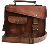 "13"" Men's Genuine Vintage Leather Messenger Bag Shoulder Satchel Laptop Bag"