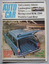 Autocar magazine 7/12/1974 featuring Humber, Lamborghini Urraco, Land Rover