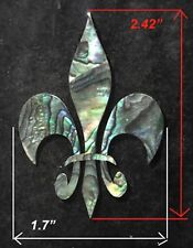 PH129# Fleur-De-Lis Inlay in Paua Abalone 1.5 mm thickness
