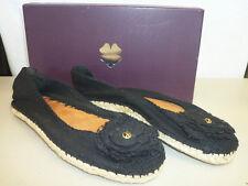 Lucky Brand New Womens Safia Black Canvas Espadrilles Flats 6 M Shoes