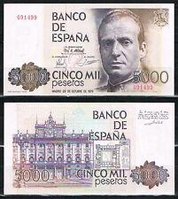ESPAÑA - BILLETE 5000 PESETAS 1979 JUAN CARLOS I Sin Serie   SC  UNC