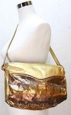 VTG 80's gold copper leather aztec Indian style ethnic native american handbag