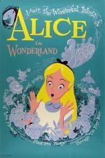 Disney Disneyland Alice In Wonderland Movie Attraction Poster  A2 Reprint
