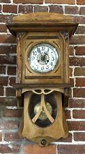 1890's Art Nouveau Greman Wall Clock Serviced Runs Great Must See