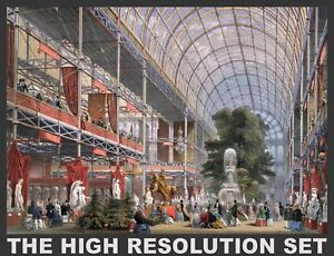 CRYSTAL PALACE GREAT EXHIBITION IMAGES Restored, Highest Resolution Print-making