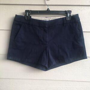 NWT Ladies 6 J. Crew Factory Navy Blue Shorts 3.5 Inseam 100% Cotton Pockets