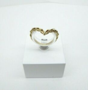 9ct Gold Wishbone Eternity Ring Keeper Hallmarked Size M with Gift Box