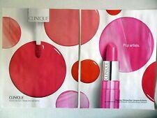PUBLICITE-ADVERTISING :  CLINIQUE Pop Artists [2pages] 2016 Rouge à lèvres