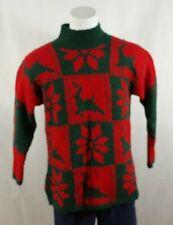 Vintage 1990's The Eagles Eye Women's Cardigan Christmas Reindeer Sweater L