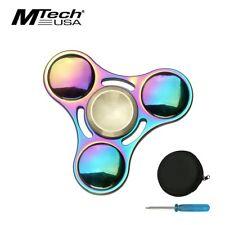 Fidget Spinner High Quality Round Rainbow Titanium Nitrite 4-Minute Spin + Case 00004000