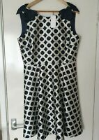 Classy New Ted baker Tandi Blushing Rose Geo Dress Size 5 /Size 16