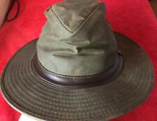 6ede58abac2 BARBOUR Bucket Hat Hunting Cap Wax Waterproof Men s Size S