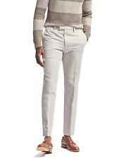 5733-2 Banana Republic Heritage Mens Beige Linen Cotton Slim Fit Pants 32W  30L