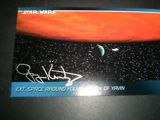 More details for star wars widevision card #81 signed by producer gary kurtz verified by swau