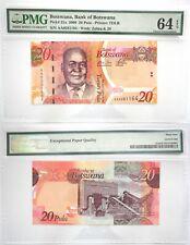 PMG Botswana 20 Pula 2009 UNC Banknote 64 EPQ SN:AA0281164 Pick # 31a
