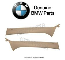 BMW E46 3-Series Set of Front Left & Right Inner A Pillar Trim Panels Beige OES