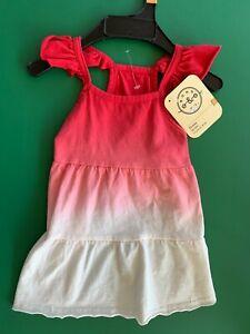 New - Bond & Co. Red Dip-Dye Ruffle Dog Dress - Sz - S