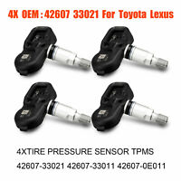 4X Genuine Tire Pressure Sensor TPMS 42607-33021 PMV-107J For Scion Toyota Lexus