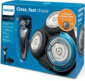Philips Wet&Dry Series 5000 Men's Shaver with Additional Shaving Heads S5290 NEW