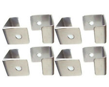 Cocktail Arcade Glass Hold-Down Clips Set of  (8) Stainless Stainless Steel