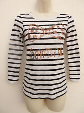 GIRLS SOFT FEEL STRIPED / SEQUINNED SWEATSHIRT / TOP - NEXT - 10 YRS
