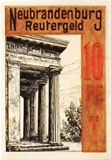 1921 Germany NEUBRANDENBURG 10  Pnennig  Notgeld / Banknote