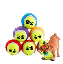 1pc Perro Mascota Tenis Bolas Juguete Al aire libre Jugar Juego Lanzar Pelota