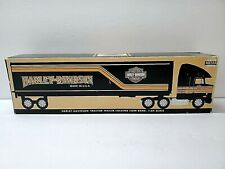 Harley Davidson Motorcycles, Tractor Trailer Semi Truck Bank, RARE Collectable