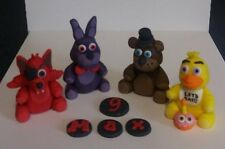 100% comestibles hecho a mano no oficial Five Nights At Freddy' (antiguos) Cake Topper X 4