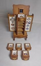 Dolls house Miniature Portrait Display cabinet unit
