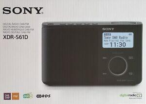 Sony Portable Digital DAB/DAB+/FM Radio - Black XDRS61DB