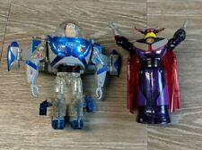 "New listing Toy Story 2 Buzz Lightyear & Zurg Mega Morpher Transformer Silver 8"" Figures"