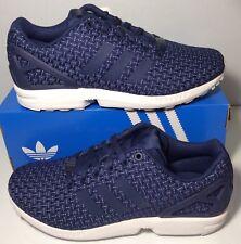 new product 3c308 5c75c adidas Originals Mens ZX Flux Trainers Dark BlueDark BlueWhit New with box