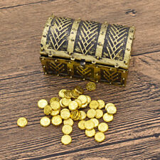"""1:6 Scale Mini Toy Treasure Box Chest Gold For 12"""" Action Figure Decoration Gift"""