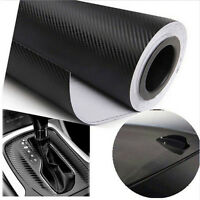 Black Car Carbon Fiber Vinyl Wrap Roll Film Decal Sheet DIY Car-Styling