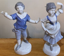 Vintage Gerold Porzellan Bavaria~Victorian Dancing Couple Porcelain Figures Rare