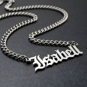 Personalized Name Necklace Custom Couple Necklace Christmas Gift for Him Her