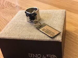 "NWT Uno de 50 Silver-plated Lace-Up Cuff Ring ""Lazo"""