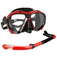 Swimming Scuba Pro Anti-Fog Goggles PVC   Dive Diving Glasses Dry Snorkel Set