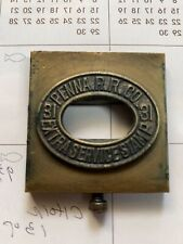 Pennsylvania Railroad Ticket Dater And Die Extra Service Stamp