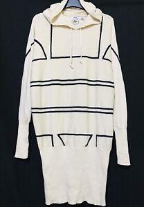 Adidas Big trefoil  Beige Hoodie Sweater Dress- logo front