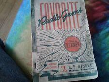 1945 Favorite Radio Gems!SC Hymnal/Songbook!R.E.Winsett Popular Songbooks!9.99 B