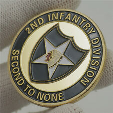 US Military Army 2nd Infantry Division Second To None Challenge Coin Collectible