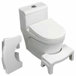 Bathroom Toilet Foldable Squatty Step Stool Potty Squat Aid For Constipation