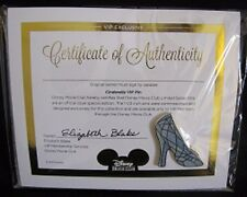 Cinderella Slipper Jeweled Vip Pin ~ Original Package Certificate Of Auth. New