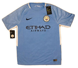 MANCHESTER CITY Nike 2017 2018 MCFC Jersey Blue Men's Size S Small New NWT