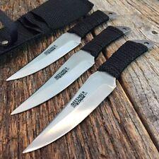 "6"" Defender Set of 3 Cord Wrapped NINJA Samauri Throwing Knife W/Sheath -F"