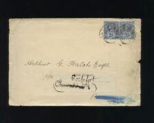 1896 Cunard Line Envelope - 2 1/2d Queen Victoria Stamps - London Postmark