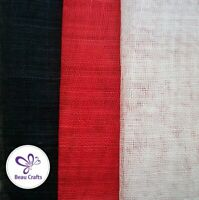 Sinamay Fabric for Millinery Hat Making 3 Mixed Colours Red White Blue Sinamay